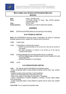 EVERGREEN_Monitoring 18 month meeting_13 05 2016_Agenda